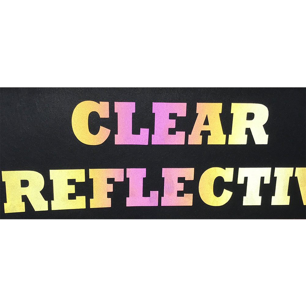 "Reflective, Clear High Reflective Film Heat Transfer Vinyl 19"" HTV"