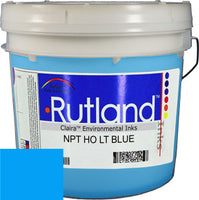 RUTLAND EH2589 NPT HIGH OPACITY LIGHT BLUE PLASTISOL OIL BASE INK FOR SILK SCREEN PRINTING