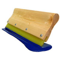 WOOD SQUEEGEE HANDLE ASSEMBLED 70 DUROMETER YELLOW MEDIUM
