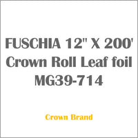 "FUSCHIA 12"" X 200' Crown Roll Leaf foil MG39-714"