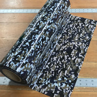 "Foil, Camo Camouflage Brown Heat Transfer Vinyl 19"" HTV"