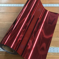 "Foil, Red Heat Transfer Vinyl 19"" HTV"
