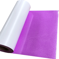 "Glitter, Rainbow Neon Purple Heat Transfer Vinyl 19"" HTV"