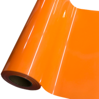 "Heat Transfer Vinyl 19"" Width NEON FLUORESCENT ORANGE HTV"