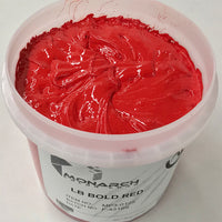 Monarch Plastisol Screen Printing Inks Low Temp Poly/Poly Blend Bold Red/Brite Red