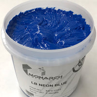 Monarch Plastisol Screen Printing Inks Low Temp Poly/Poly Blend Fluorescent Blue/Solar Blue