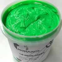 Monarch Plastisol Screen Printing Inks Low Temp Poly/Poly Blend Fluorescent Green/Traffic Green