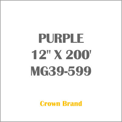 "PURPLE 12"" X 200' Crown Roll Leaf Foil MG39-599"