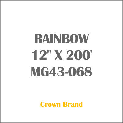 "RAINBOW 12"" X 200' Crown Roll Leaf Foil MG43-068"