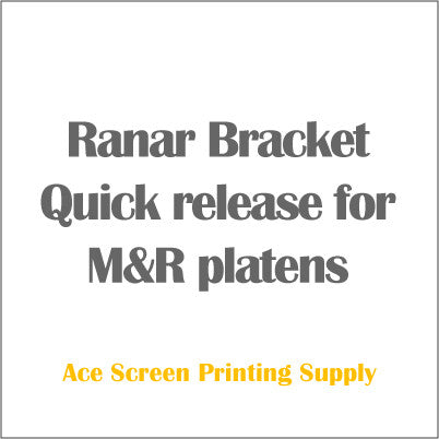 Ranar Bracket Quick release for M&R platens