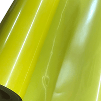 "Reflective, Yellow High Reflective Film Heat Transfer Vinyl 19"" HTV"