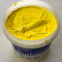 RUTLAND M34037 NPT OPAQUE FLUOR YELLOW PLASTISOL OIL BASE INK FOR SCREEN PRINTING