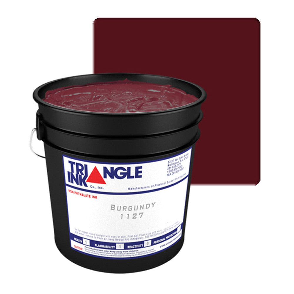 TRIANGLE 1127 BURGUNDY PLASTISOL OIL BASE INK FOR SILK SCREEN PRINTING