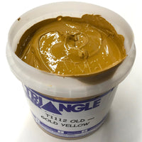 TRIANGLE 1112 OLD GOLD YELLOW PLASTISOL OIL BASE INK FOR SILK SCREEN PRINTING