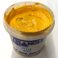 TRIANGLE 1115 GOLD PLASTISOL OIL BASE INK FOR SILK SCREEN PRINTING