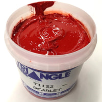 TRIANGLE 1122 SCARLET PLASTISOL OIL BASE INK FOR SILK SCREEN PRINTING