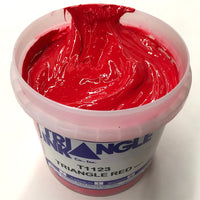TRIANGLE 1123 RED PLASTISOL OIL BASE INK FOR SILK SCREEN PRINTING