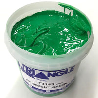 TRIANGLE 1143 OPAQUE BRIGHT GREEN PLASTISOL OIL BASE INK FOR SILK SCREEN PRINTING