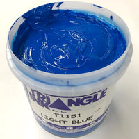 TRIANGLE 1151 LIGHT BLUE PLASTISOL OIL BASE INK FOR SILK SCREEN PRINTING