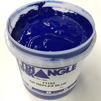 TRIANGLE 1152 OPAQUE REFLEX BLUE PLASTISOL OIL BASE INK FOR SILK SCREEN PRINTING