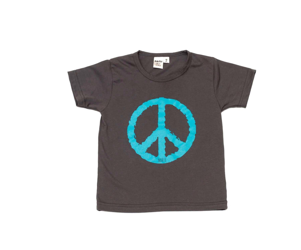 Peace Out Tshirt Grey