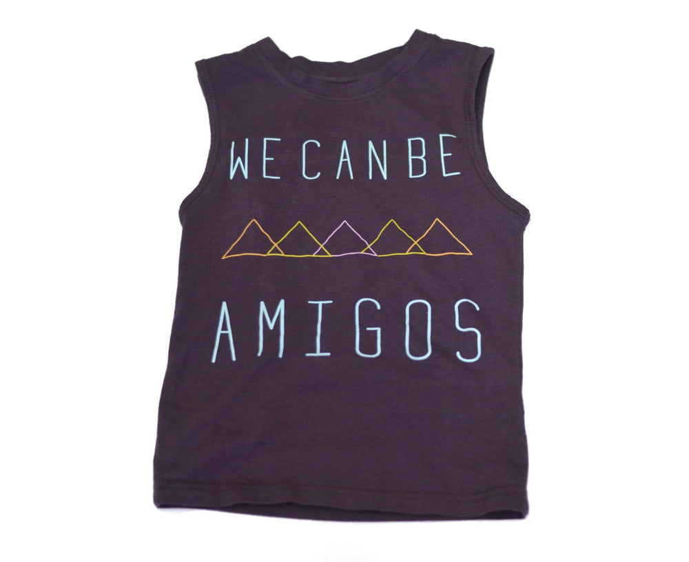 Norte Amigo Tank Top, make a statement in this organic cotton tee with a message of kindness
