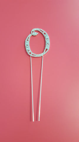 Cake Topper Diamante Numbers 8cm