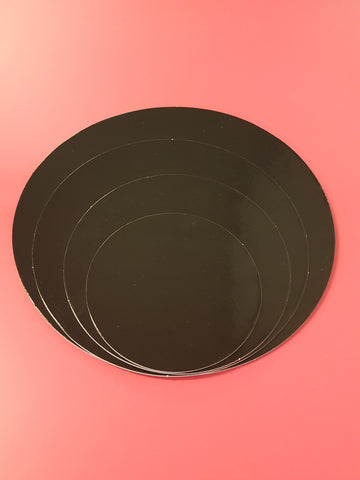 Cake Boards Cardboard Round Black