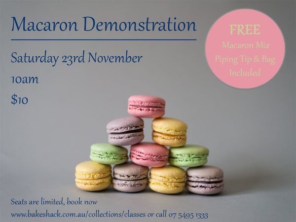Macaron Demonstration - SOLD OUT