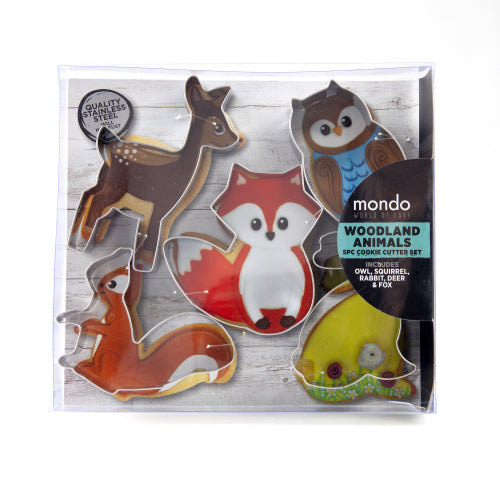 Woodland Animal Cookie Cutters x 5