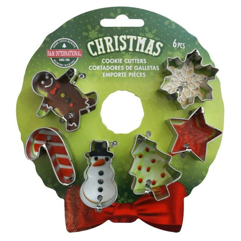 Christmas Mini Wreath Cookie Cutter Set 6