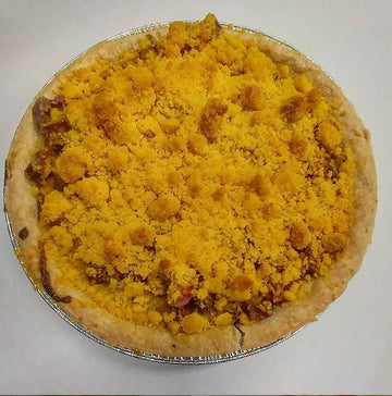 Rhubarb Sour Cream Pie 9inch
