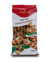 Imperial Wafers Nut Cream Rolls 160g - The Bake Oven