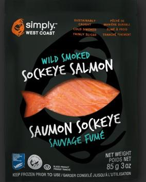 Simply West Coast Wild Smoked Sockeye Salmon 85g
