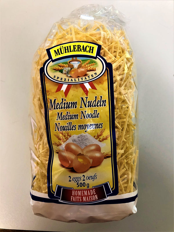 Muhlebach Pasta Medium Noodles 500g - The Bake Oven