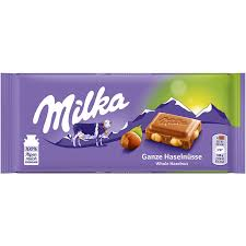 Milka Whole Hazelnut Chocolate Bar 100g