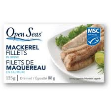 Open Seas Mackeral in Brine 125g