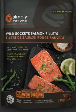 Simply West Coast Wild Sockeye Salmon Portions 340g