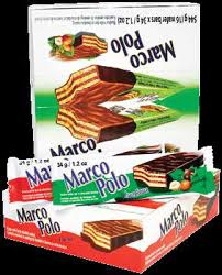 Marco Polo Hazelnut Bars 34 g - The Bake Oven