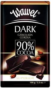 Wawel 90% Dark Chocolate Bar 100g - The Bake Oven