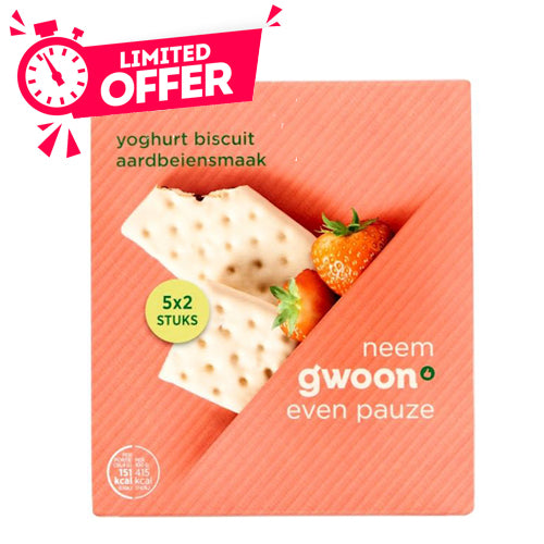 Gwoon Cereal Bar Strawberry Yoghurt 5 x 37g - The Bake Oven