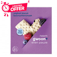 Gwoon Cereal Bar Forestberry Yoghurt 5 x 37g - The Bake Oven