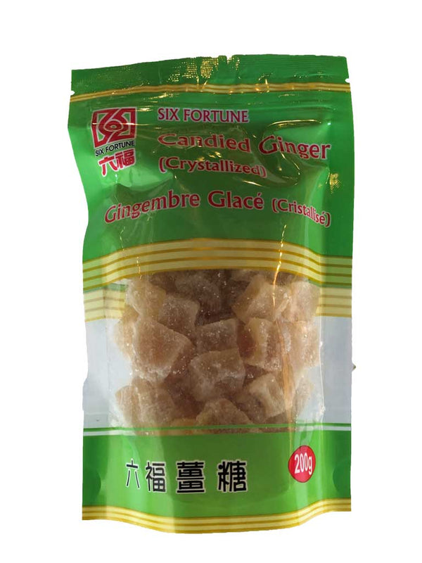 Six Fortune Candied Ginger 200g - The Bake Oven