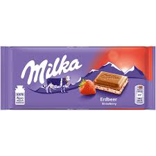 Milka Strawberry Yoghurt Chocolate Bar 100g - The Bake Oven