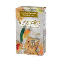 Wisecrackers Toasted Sesame Crackers 114g - The Bake Oven