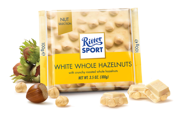 Ritter Sport Whole Hazelnut White Chocolate 100g - The Bake Oven