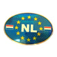 NL Sticker Oval Blue