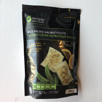 Simply West Coast Halibut Fillets 200g