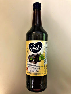 Paola Fruit Syrup Black Currant 1l