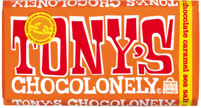 Tony's Chocolonely Milk Caramel Sea Salt 180 g - The Bake Oven